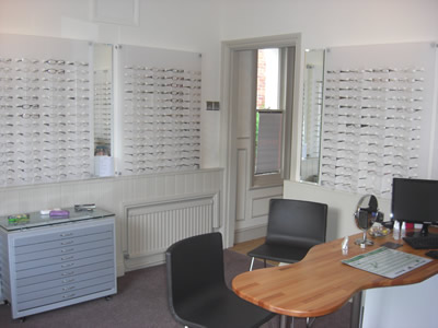Visions of Witham Opticians Showroom